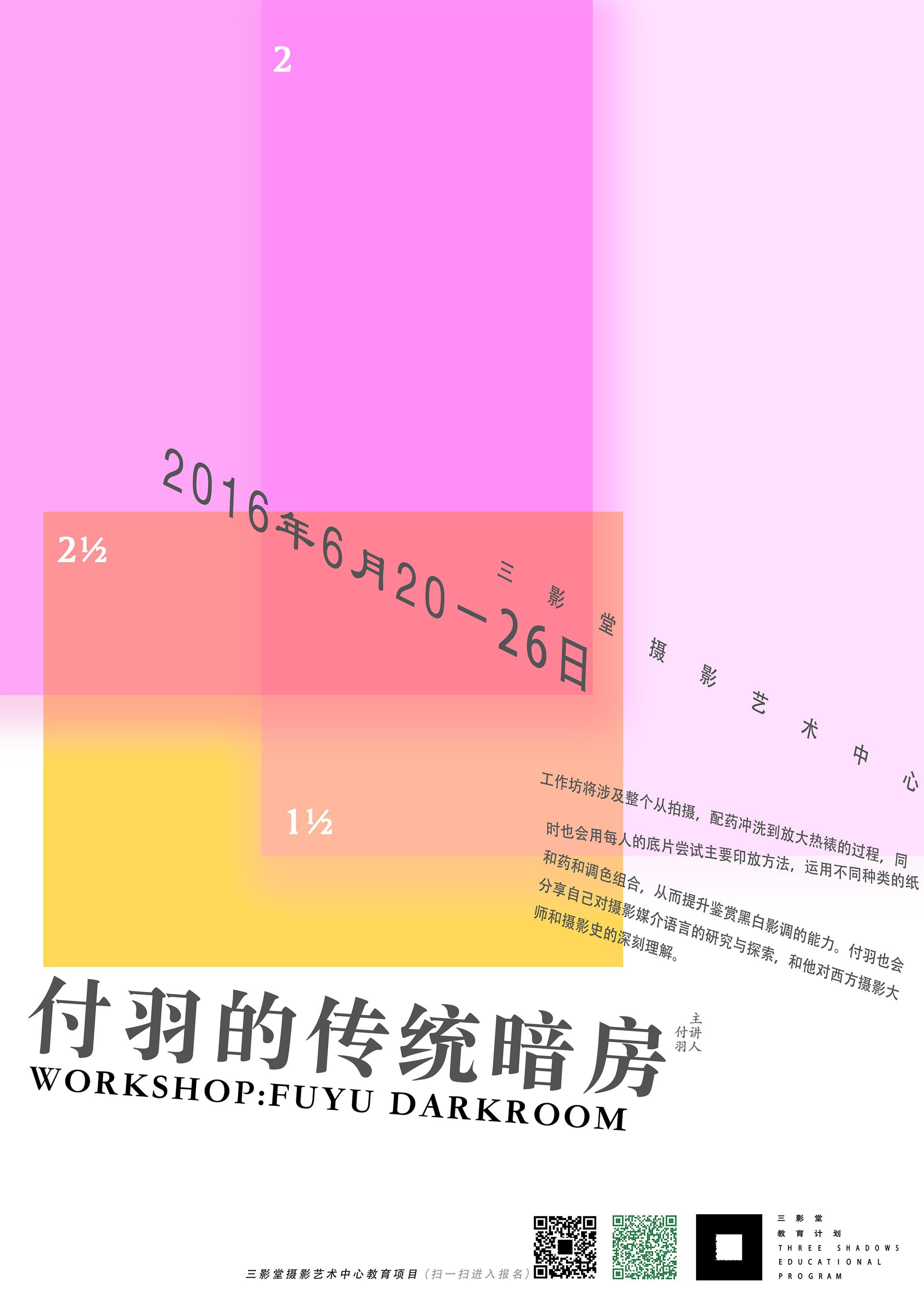 2016 付羽:传统暗房工作坊 | 北京